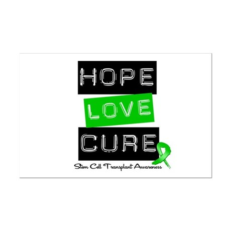 SCT Survivor Heart Ribbon Mini Poster Print