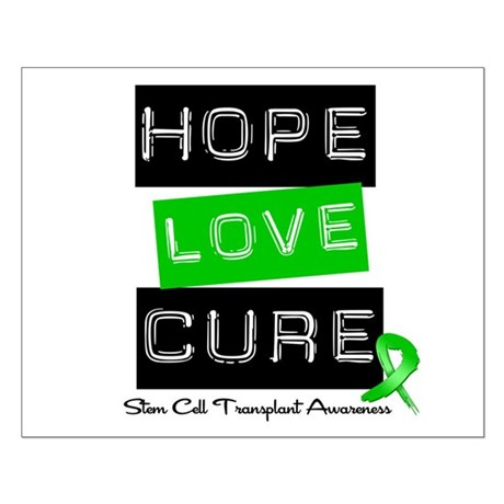 SCT Survivor Heart Ribbon Small Poster
