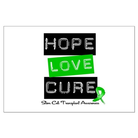 SCT Survivor Heart Ribbon Large Poster