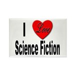 I Love Science Fiction Rectangle Magnet (10 pack)
