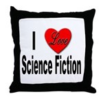 I Love Science Fiction Throw Pillow