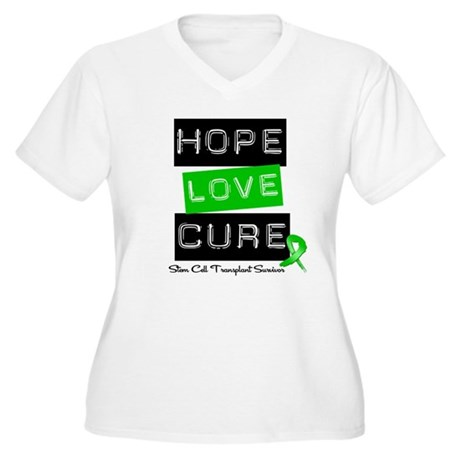 SCTSurvivor HopeLoveCure Women's Plus Size V-Neck