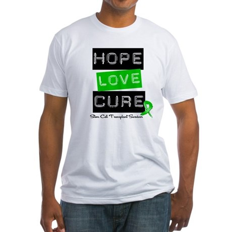 SCTSurvivor HopeLoveCure Fitted T-Shirt
