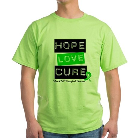 SCTSurvivor HopeLoveCure Green T-Shirt