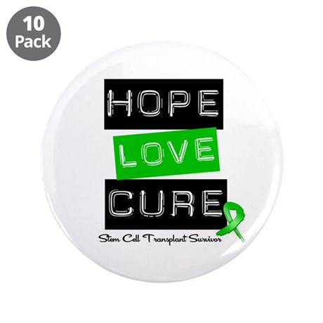"SCTSurvivor HopeLoveCure 3.5"" Button (10 pack)"