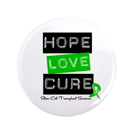 "SCTSurvivor HopeLoveCure 3.5"" Button (100 pack)"