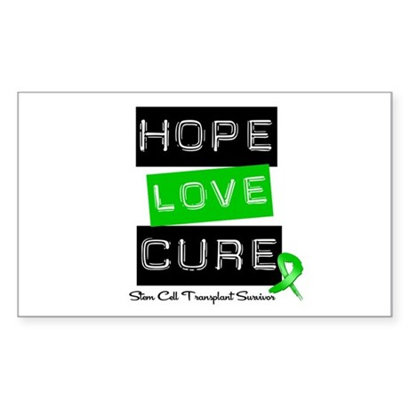 SCTSurvivor HopeLoveCure Rectangle Sticker