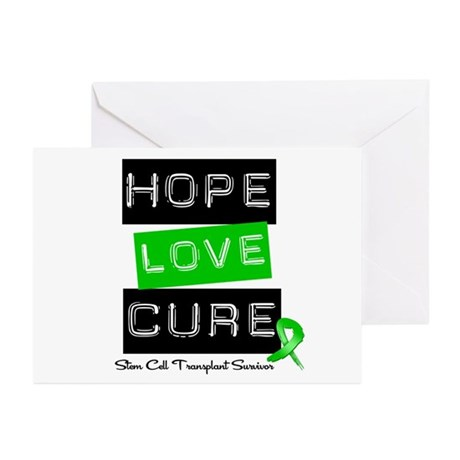 SCTSurvivor HopeLoveCure Greeting Cards (Pk of 10)