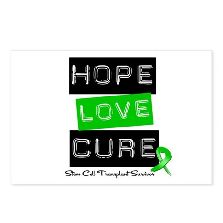 SCTSurvivor HopeLoveCure Postcards (Package of 8)