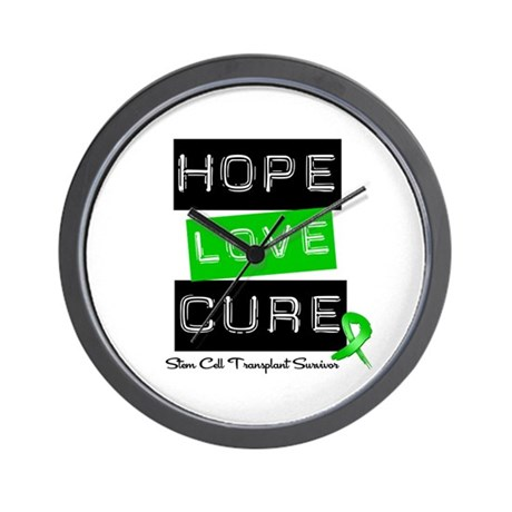 SCTSurvivor HopeLoveCure Wall Clock