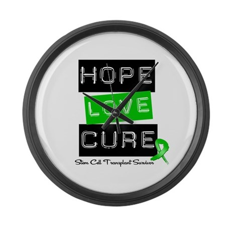 SCTSurvivor HopeLoveCure Large Wall Clock