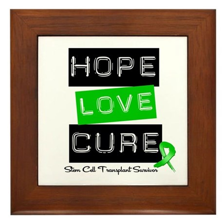 SCTSurvivor HopeLoveCure Framed Tile