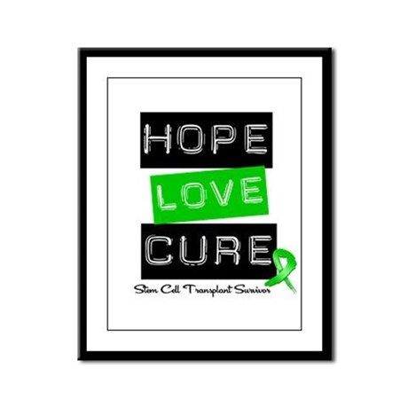 SCTSurvivor HopeLoveCure Framed Panel Print