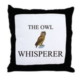 The Owl Whisperer Throw Pillow