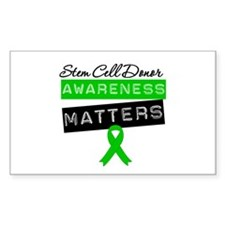 SCTDonorAwarenessMatters Rectangle Sticker 10 pk)