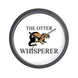 The Otter Whisperer Wall Clock