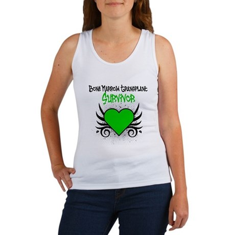 BMT Survivor Grunge Heart Women's Tank Top