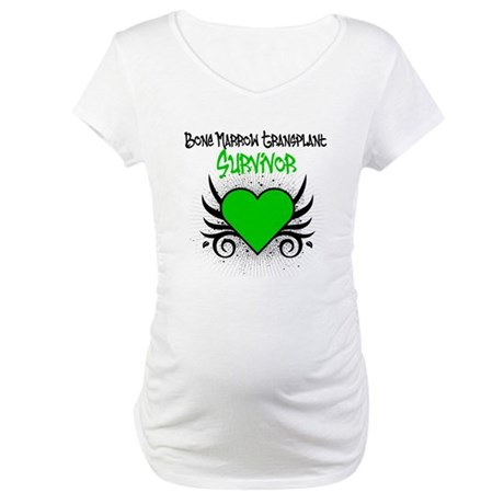 BMT Survivor Grunge Heart Maternity T-Shirt
