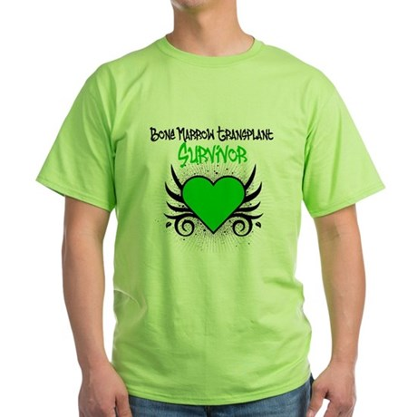 BMT Survivor Grunge Heart Green T-Shirt