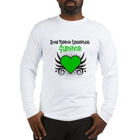 BMT Survivor Grunge Heart Long Sleeve T-Shirt