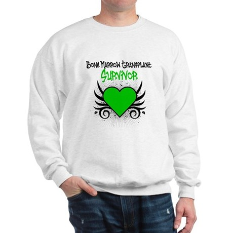 BMT Survivor Grunge Heart Sweatshirt