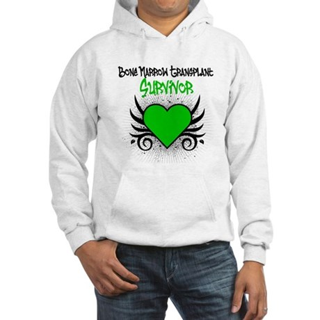 BMT Survivor Grunge Heart Hooded Sweatshirt