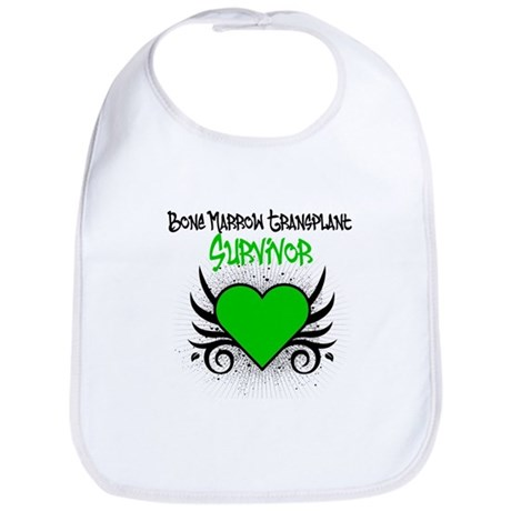BMT Survivor Grunge Heart Bib