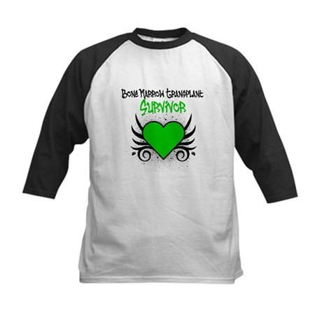 BMT Survivor Grunge Heart Kids Baseball Jersey