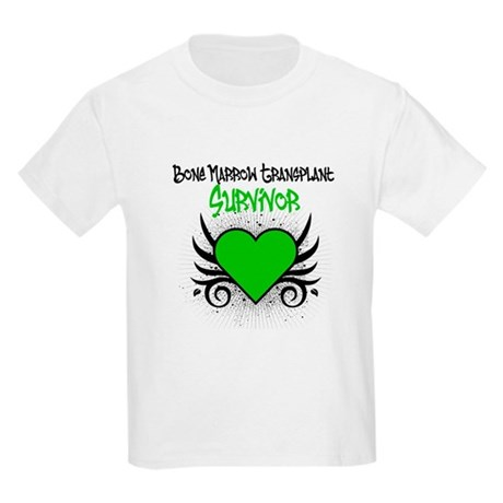 BMT Survivor Grunge Heart Kids Light T-Shirt