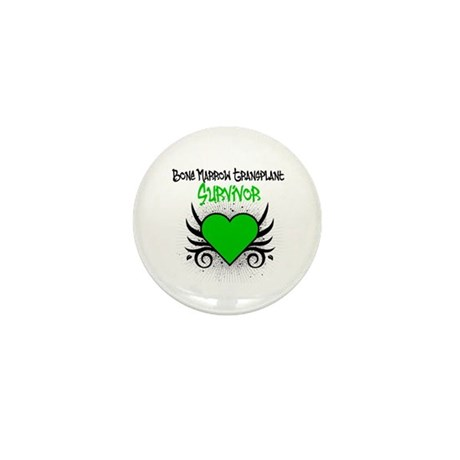 BMT Survivor Grunge Heart Mini Button (100 pack)
