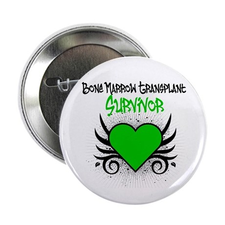 "BMT Survivor Grunge Heart 2.25"" Button"