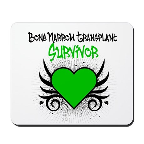 BMT Survivor Grunge Heart Mousepad