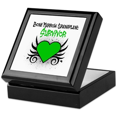BMT Survivor Grunge Heart Keepsake Box
