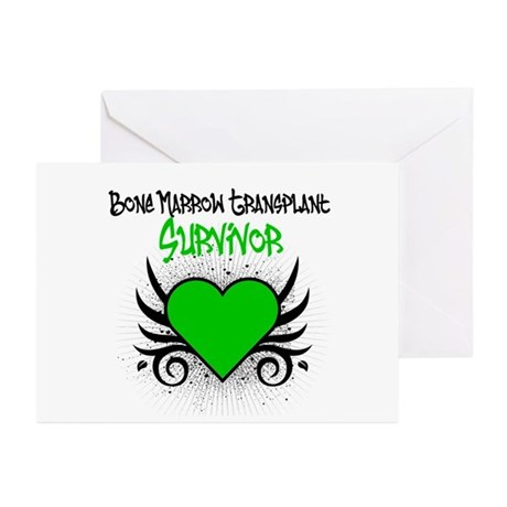 BMT Survivor Grunge Heart Greeting Cards (Pk of 10