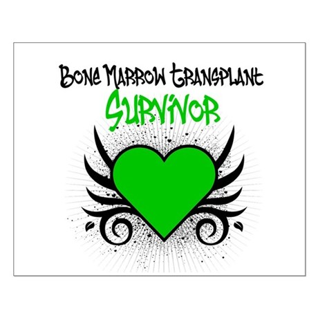 BMT Survivor Grunge Heart Small Poster