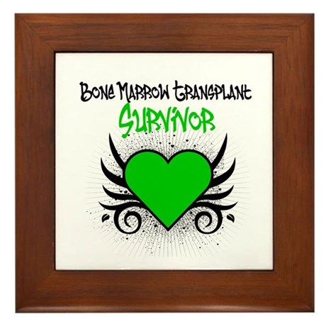 BMT Survivor Grunge Heart Framed Tile