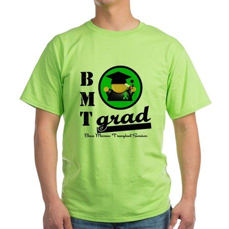 Stem Cell Transplant Grad Green T-Shirt