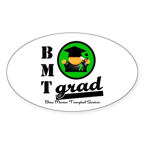 Stem Cell Transplant Grad Oval Sticker