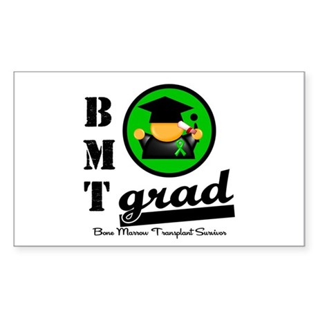Stem Cell Transplant Grad Rectangle Sticker 10 pk