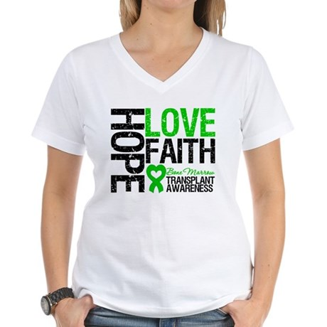 BMT Hope Love Faith Women's V-Neck T-Shirt
