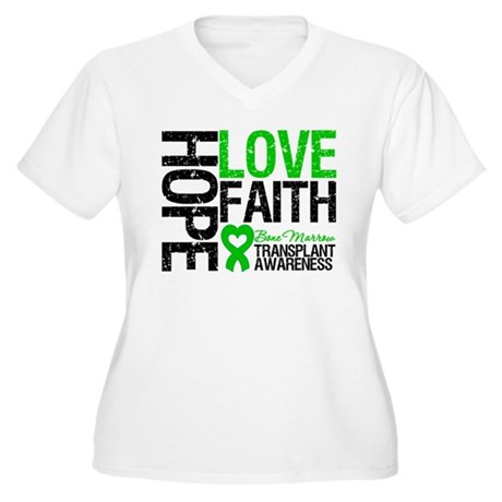 BMT Hope Love Faith Women's Plus Size V-Neck T-Shi