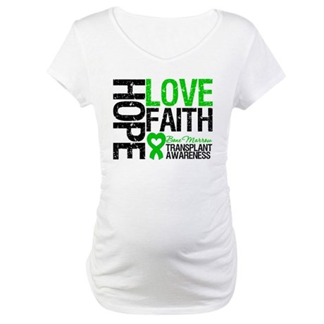 BMT Hope Love Faith Maternity T-Shirt