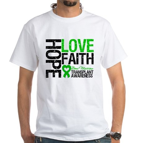 BMT Hope Love Faith White T-Shirt