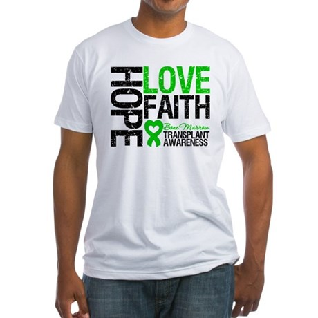 BMT Hope Love Faith Fitted T-Shirt