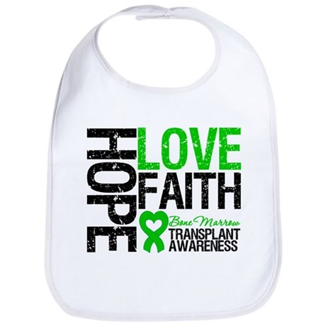 BMT Hope Love Faith Bib
