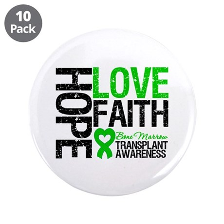 "BMT Hope Love Faith 3.5"" Button (10 pack)"