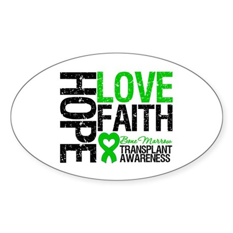 BMT Hope Love Faith Oval Sticker