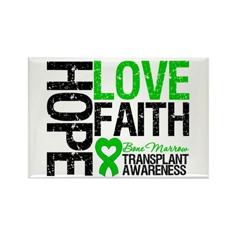 BMT Hope Love Faith Rectangle Magnet (100 pack)