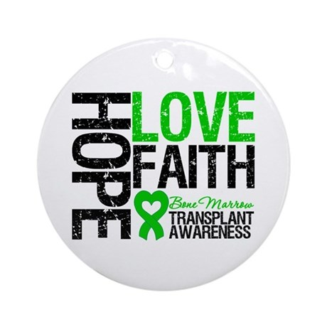 BMT Hope Love Faith Ornament (Round)