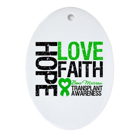 BMT Hope Love Faith Oval Ornament